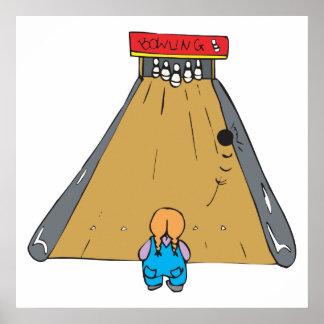 little tot bowling gutter ball posters