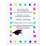 "Little Tots Kindergarten Graduation Announcement 4.25"" X 5.5"" Invitation Card"