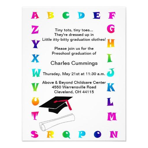 Personalized Kindergarten graduation Invitations – Preschool Graduation Invitations