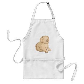 Little Toy Poodle Illustration Adult Apron
