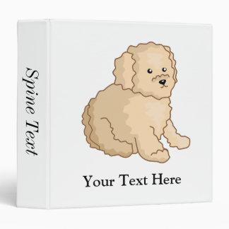 Little Toy Poodle Illustration Binder