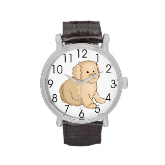Little Toy Poodle Illustration Watch