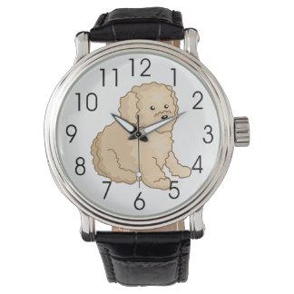 Little Toy Poodle Illustration Wrist Watch