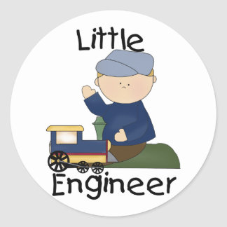 Little Train Engineer T-shirts and Gifts Classic Round Sticker