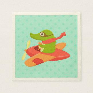 Little Travelers: Crocodile napkin
