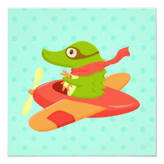 Little Travelers: Flying Crocodile card