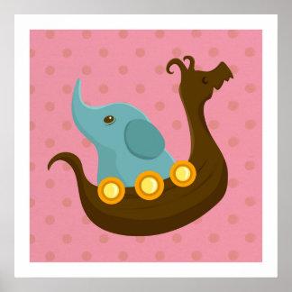 Little Travelers: Viking Elephant poster