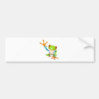 Little tree frog bumper sticker
