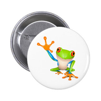 Little tree frog 2 inch round button