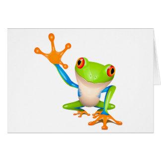 Little tree frog card