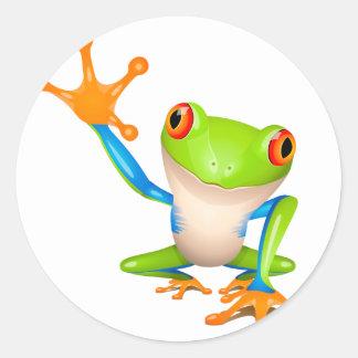 Little tree frog classic round sticker