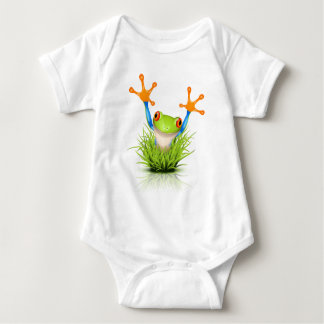 Little Tree Frog in the grass Baby Bodysuit
