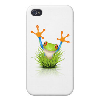 Little Tree Frog in the grass iPhone 4 Cover