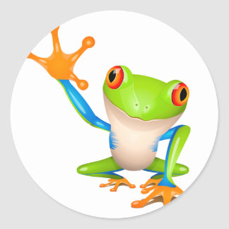 Little tree frog stickers
