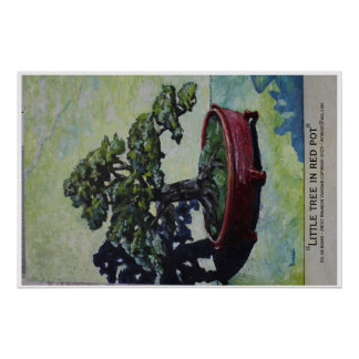 Little tree in red pot poster