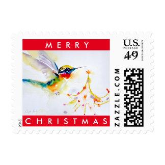 """Little Tree Trimmer"" Hummingbird Print Postage"