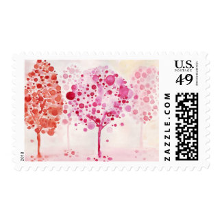Little trees postage stamp