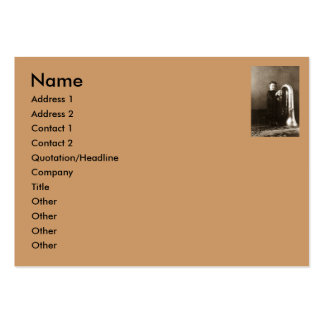 Little Tuba Girl Large Business Cards (Pack Of 100)