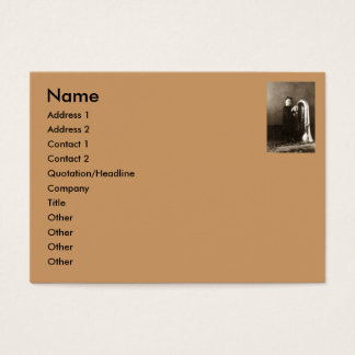 Little Tuba Girl Business Card