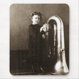 Little Tuba Girl Mousepad