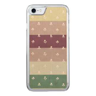 Little Tulips on Pastel Stripes (Wooden Case) Carved iPhone 8/7 Case