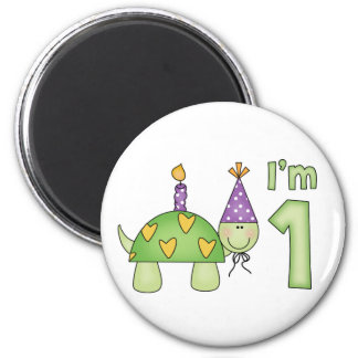 Little Turtle 1st Birthday Magnet