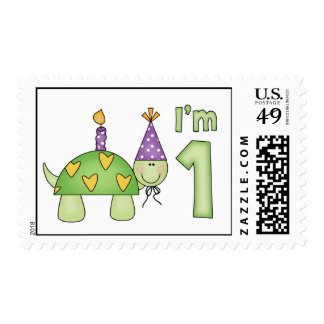 Little Turtle 1st Birthday Postage