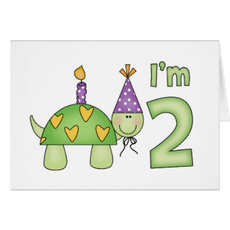 Little Turtle 2nd Birthday Card