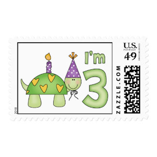 Little Turtle 3rd Birthday Postage