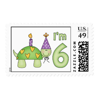 Little Turtle 6th Birthday Postage