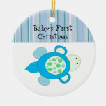 Little Turtle Baby's First Christmas Christmas Tree Ornaments