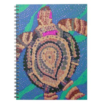 Ocean Themed Little Turtle with Many Spots Spiral Notebook