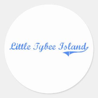 Little Tybee Island Georgia Classic Design Classic Round Sticker