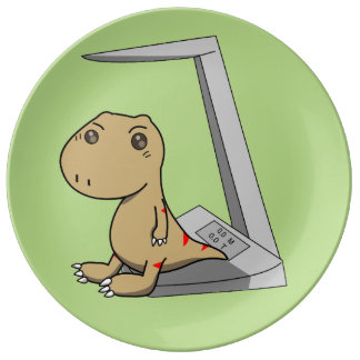 Little Tyrannosaurus- Hurry to grow up Plate