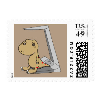 Little Tyrannosaurus- Hurry to grow up Postage Stamp