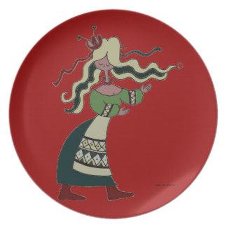 Little Ukrainian Dancer Melamine Plate