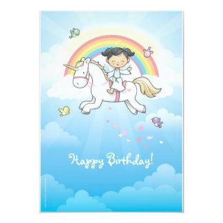 "Little unicorn 5"" x 7"" invitation card"