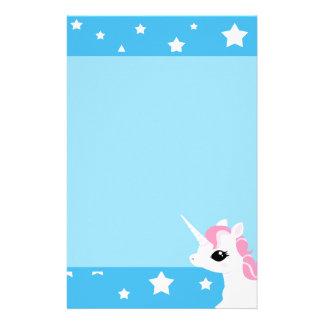 Little Unicorn pink mane stationary Stationery