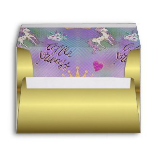 Little Unicorn Princess Envelope
