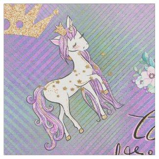 Little Unicorn Princess Fabric