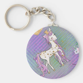 Little Unicorn Princess Keychain