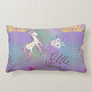 Little Unicorn Princess Lumbar Pillow