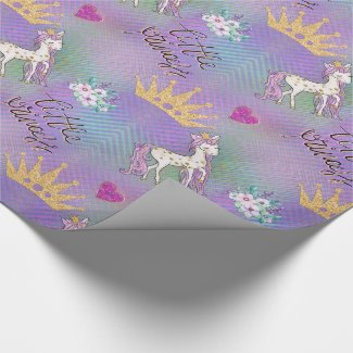 Little Unicorn Princess Wrapping Paper