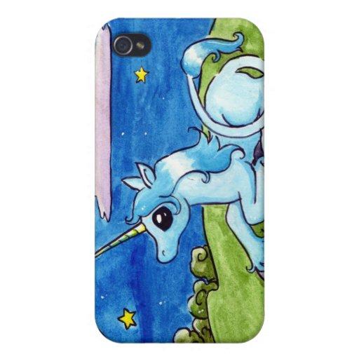 Little Unicorn Wishing on stars iPhone 4 Cover