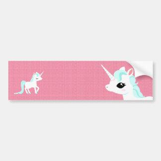 Little Unicorn with blue mane Bumper sticker