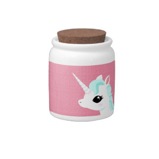 Little Unicorn with blue mane cookie jar Candy Jars