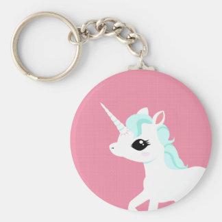 Little Unicorn with blue mane keychain