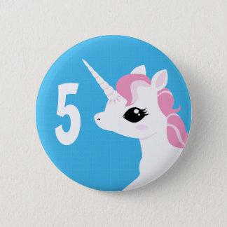 Little Unicorn with Pink mane badge Birthday Button