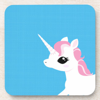 Little Unicorn with Pink mane coaster