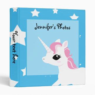Little Unicorn with Pink mane customisable binder
